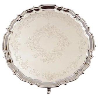 Edwardian Silver Plated Salver, Circa 1905