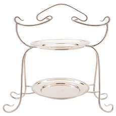 Art Nouveau Silver Plated Cake Stand, Circa 1900