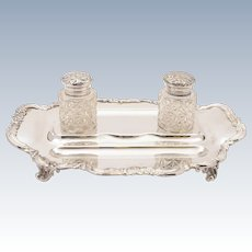 Edwardian Silver Plated Double Ink Stand, Circa 1905