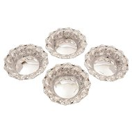 Cased Set of 4 Silver Bon Bon Dishes, Sheffield 1897