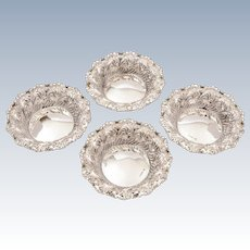 Cased Set of 4 Silver Bon Bon Dishes, Sheffield 1897