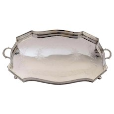 Large Victorian Silver Plated Gallery Tray, Circa 1890