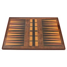 Victorian Combined Backgammon and Cribbage Board, Circa 1880