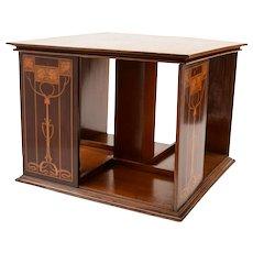 Art Nouveau Mahogany Revolving Desktop Bookcase, Circa 1900
