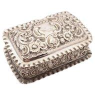 Edwardian Silver Trinket Box, Chester 1903