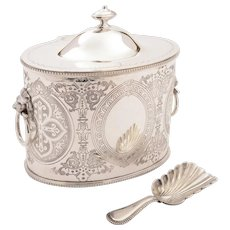 Victorian Oval Silver Plated Tea Caddy, Circa 1890