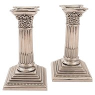 Pair of Edwardian Silver Plated Candlesticks, Circa 1905