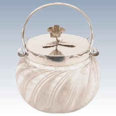 Edwardian Cut Glass Biscuit Barrel, Circa 1905