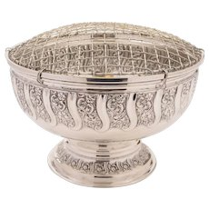 Edwardian Silver Plated Rose Bowl, Circa 1905