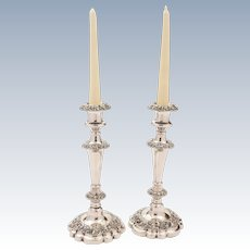 Pair of Victorian Silver Plated Candlesticks, Circa 1890