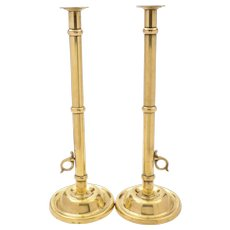 Pair of Arts & Crafts Brass Candlesticks, Circa 1900