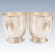 Pair of Silver Plated Ice Buckets, Circa 1930
