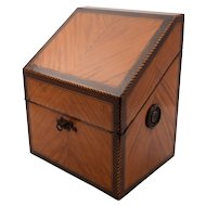 French Mixed-Woods Converted Knife Box, Circa 1800