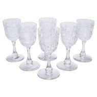 Set of 6 Edwardian Glasses, Circa 1905