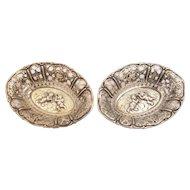 Pair of .800 Silver Bon Bon Dishes, Circa 1900