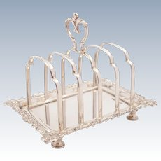 Victorian Silver Tray-Based Toast Rack, Sheffield 1892