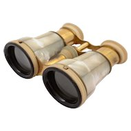 French Brass and Mother of Pearl Opera/Theatre Glasses