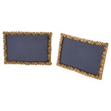 Pair of Edwardian Brass Photo Frames, Circa 1905