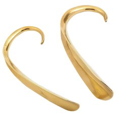 Pair of Edwardian Brass 'His & Hers' Shoe Horns