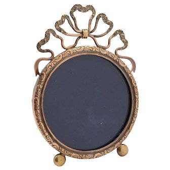 Small Brass Edwardian Picture Frame, Circa 1905