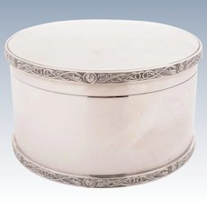 Art Deco Silver Plated Biscuit Box, Circa 1930