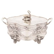 Victorian Silver Plated Swan Butter Dish, Circa 1890