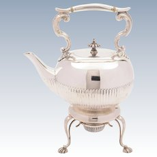 Edwardian Silver Plated Kettle on Stand, Circa 1905