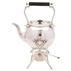 Edwardian Large Tea Kettle on Stand, Circa 1905