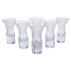Set of 6 European Shot Glasses, Circa 1930