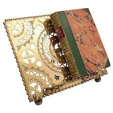 Victorian Brass Folding Book Stand, Circa 1890