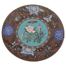 Japanese Cloisonne Plate, Circa 1900