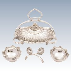 Victorian Silver Plated Strawberry Dish, Circa 1890