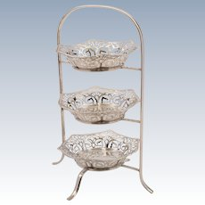 Edwardian Silver Plated Bon Bon Dishes, Circa 1905