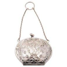 Silver Art Nouveau Purse, Birmingham 1909