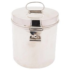 Victorian Novelty Silver Plated Biscuit Barrel, Circa 1890