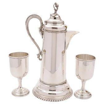 Continental Silver Plated Claret Jug, Circa 1900