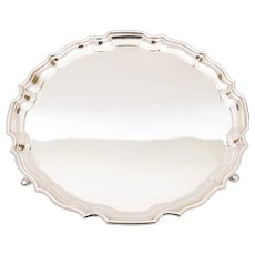 Charming Art Deco Silver Plated Salver, Circa 1930