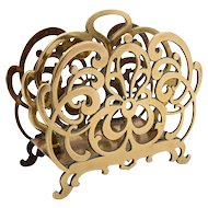 Victorian English Brass Letter Rack, Circa 1890