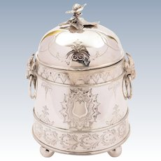 Victorian Silver Plated Biscuit Box, Circa 1880