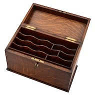 Edwardian Oak Letter/Document Box, Circa 1905