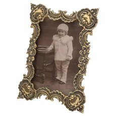 Charming Edwardian Cast Brass Photo Frame, Circa 1905