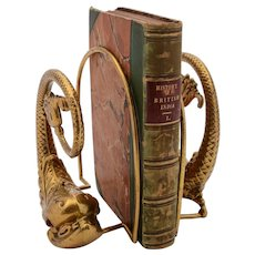 Unusual Edwardian Brass Fish Bookends, Circa 1905