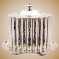 Superb Victorian Silver Plated Biscuit Box, 1866