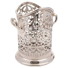 Superb Edwardian silver plated bottle stand c 1905