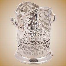 Superb Edwardian silver plated bottle stand c 1905