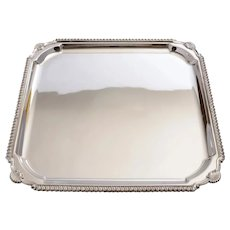 Good Art Deco Silver Plated Salver, Circa 1930