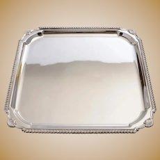 Good Art Deco Silver Plated Salver, Circa 1930