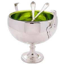 Good WMF Silver Plated Salad Bowl With Servers, Circa 1900