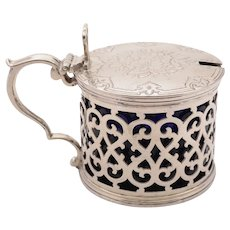 Fabulous Victorian  Silver Mustard Pot, London 1856