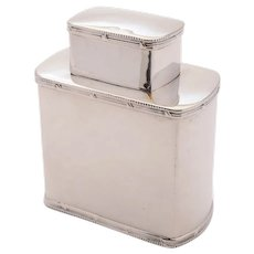 Good Silver Tea Caddy, Birmingham 1913